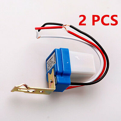 2PCS Car Auto On Off Street Light Switch Photo ControlLler Sensor for DC AC 12V