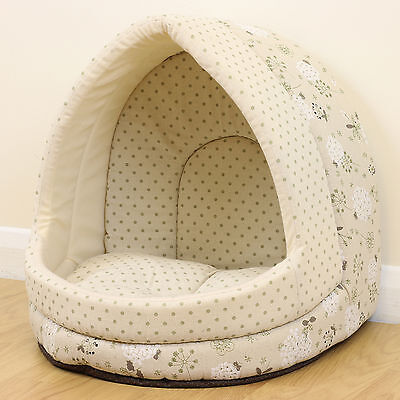 Polka Dot/Floral Igloo Pet Bed Cat/Kitten Dog/Puppy Cave/House/Snug Pastel Chic