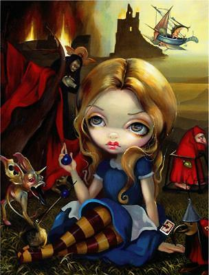 Alice and the Bosch Monsters by Jasmine Becket-Griffith Wonderland Postcard