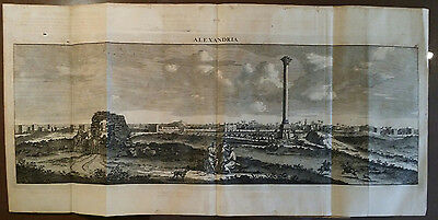 Egypt BOOKLET Le Brun De Bruyn 1700 Alexandria  Cairo-38 Copper Engravings 57 pp