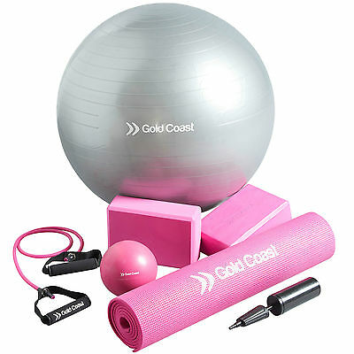 Gold Coast 7 Piece Yoga Pilates Fitness Exercise Workout Set