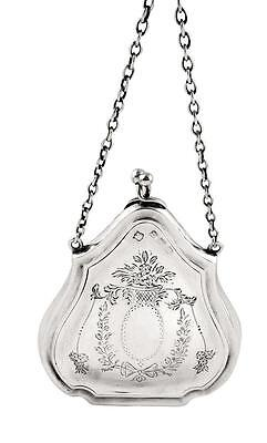 Antique Hallmarked Sterling Silver Purse 1915