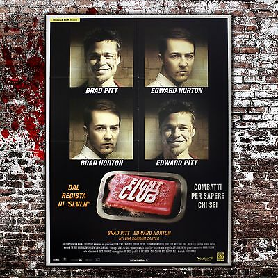 Original Film Poster Fight Club - 100x140 CM -Brad Pitt, Edward Norton