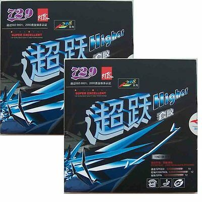 2x Friendship RITC Pips-in Table Tennis Rubber/Sponge: 729 Higher 2008, New