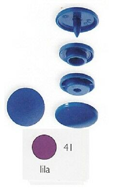 Prym 30 Stitch-free-press buttons Colour Snaps 12,4 mm round purple