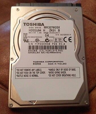 "2.5""SATA Hard Drive,TOSHIBA MK3276GSX  320GB HDD ,Playstation 3,PS4, PS3,"
