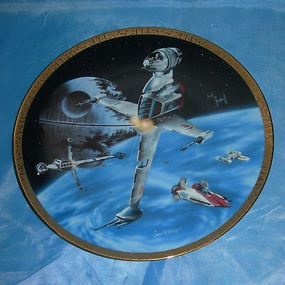 STAR WARS Space Vehicles PLATE Hamilton Collection B-WING FIGHTER 1505A w/ COA