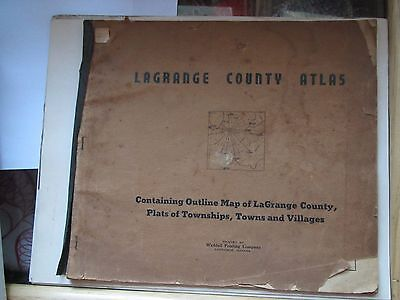 LaGrange county Atlas Original property owners towns townships