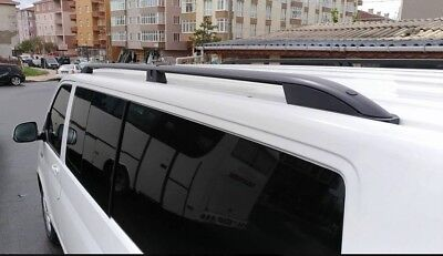 VW Transporter T5-T5.Short  Wheel Base Roof Rails Black Aluminum