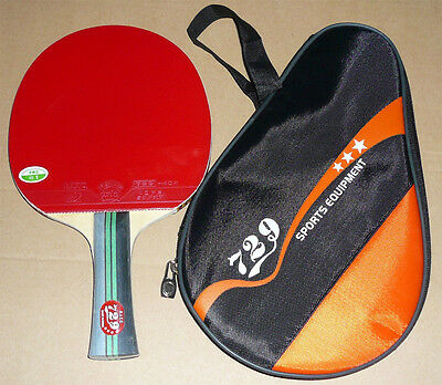 Best Friendship RITC729 Carbon Table Tennis Paddle Bat with Case, New