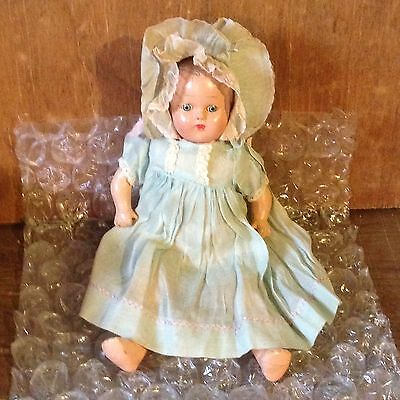 """Antique 12"""" Compostion Baby Doll Sleepy Eyes No Markings"""