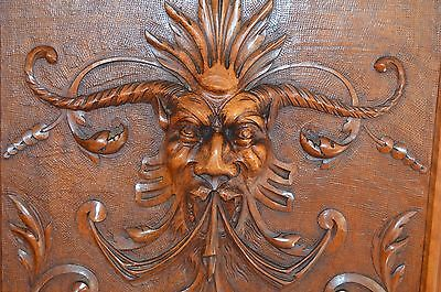 French Antique Hand Carved Walnut Wood Door Panel - Architectural Salvage Demon