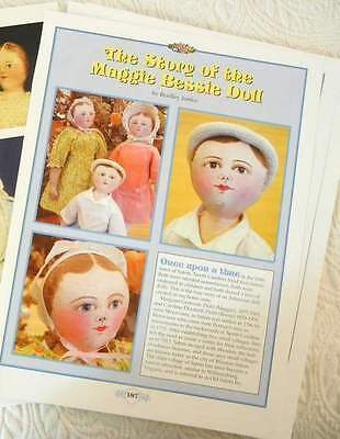 10p Research Article & Pics - Antique Maggie-Bessie Moravian Cloth Doll History