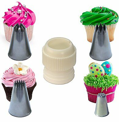Cupcake Stars & Swirls Nozzle Set Extra Large, with Coupler plus Strands Tip