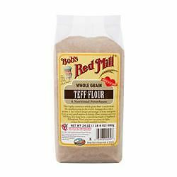 4 Packs of Bobs Red Mill Gluten Free Teff Flour 500g