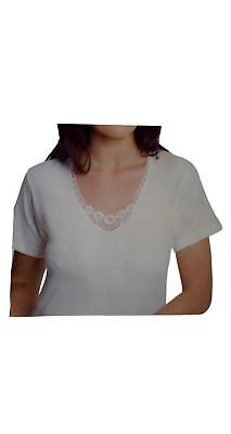 3 T-Shirt Donna Leable Girocollo Art 95 Lana Cotone Bianco Lana Made In Italy