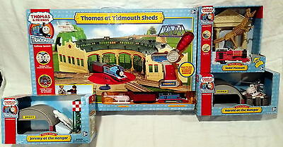 """Thomas & Friends Trackmaster """"Thomas at Tidmouth Sheds"""" Lot - New in Box (NISB)"""