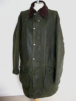 Barbour A400 NORTHUMBRIA Wax Jacket In GREEN Size C42/107cm LARGE