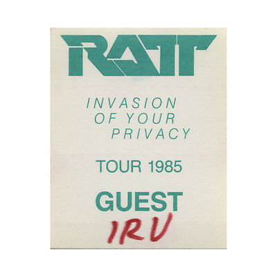 Ratt authentic Guest 1985 tour Backstage Pass