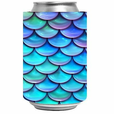 Mermaid Scales Stubby Holder Can Cooler .