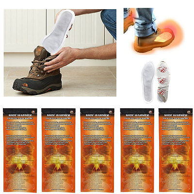 5 Pairs Toe Foot Warmer Insole Shoe Sock Adhesive Activated Pure Heat Hot Feet !