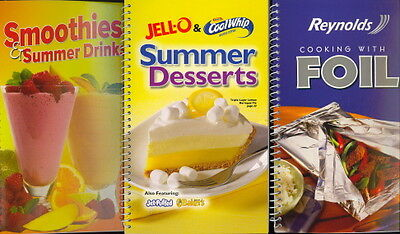 3-Pack Cookbooks (Smoothies & Summer Drinks/Reynolds Cooking with Foil/Jell-O &
