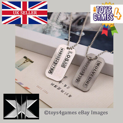 UK NEW X-Men Wolverine LOGAN Movie Dog Tags Double Sided Marvel Comic Necklace