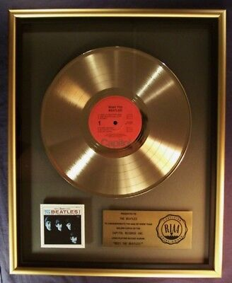 The Beatles Live At The BBC LP Gold RIAA Record Award Apple Records To Musicom