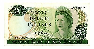 New Zealand ... P-167b ... 20 Dollars ... ND(1968-75) ... *VF-XF*