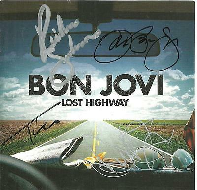 Bon Jovi Lost Highway CD Insert Booklet SIGNED by all 4 Band Members Autographed