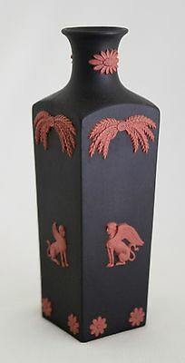 "WEDGWOOD JASPERWARE 5.25"" Bud Vase Black Basalt & Terracotta Egyptian  PERFECT"