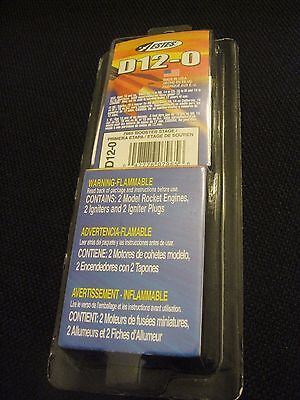 Estes Model Rocket Engines 2 pack with Igniter's and plugs D12-0