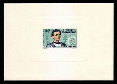 Central African Republic: Proof, Scott C28, 1968 Abraham Lincoln. CR01