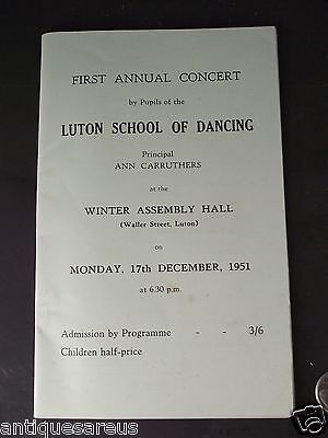 Luton School Of Dancing First Annual Concert 1951 Waller Street Luton  England