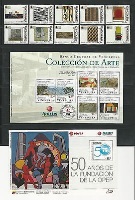 Venezuela: Lot of 4 complete sets + 4 S.S Arts, paint, stained glass...VE884