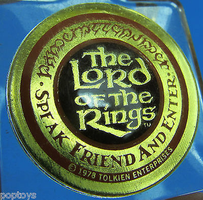KEYCHAIN Lord of the Rings '78 vtg animated movie Bakshi Tolkien
