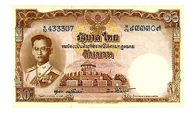 Thailand ... P-76d ... 10 Baht ... ND(1953) ... *(*)UNC* ... Sign 40