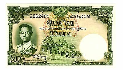 Thailand ... P-77d ... 20 Baht ... ND(1955) ... *AU* ... Sign 41