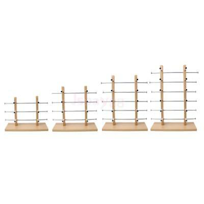 Wooden Sunglasses Eye Glasses Rack Display Stand Holder Silver 3/4/5/6-Layer