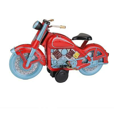 Vintage Retro Motorcycle Wind Up Tin Toy Collectible/Gift