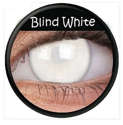 Halloween Crazy Lens Cosplay White Coloured Contacts Lens Color Contacts Lenses