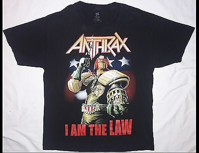 ANTHRAX I Am The Law Size Large Black T-Shirt