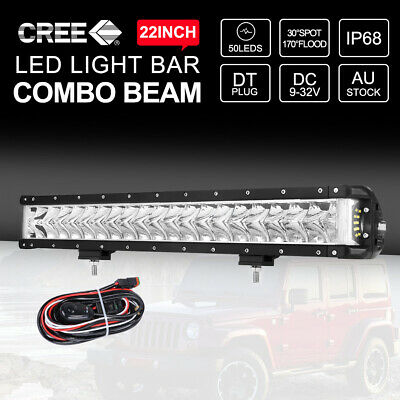 23 inch 336W CREE LED Light Bar Spot Flood Combo Off Road 4x4 Driving Work 22""