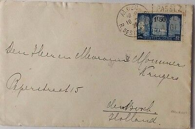 Algeria 1920 Cover Printed For Paquebot S. S. Prinses Juliana To Holland