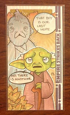 Topps Empire Strikes Back 30th Anniversary Yoda color sketch card Nina Edlund