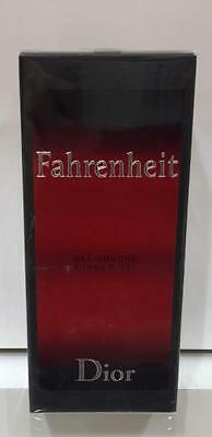 Nuovo Christian Dior Fahrenheit Shower Gel 200 Ml