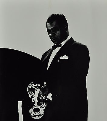 Chargesheimer Original Photo 1961 30x40cm Louis Armstrong Jazz Trumpet Trompete