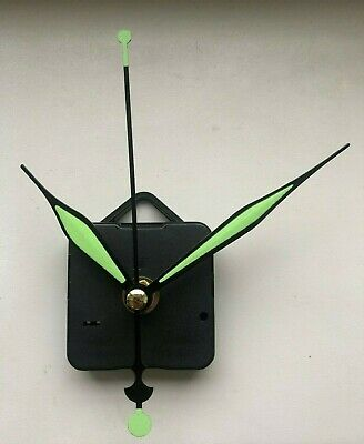 Art Deco Style Green Clock Movement - Quartz Sweeping Hands - AA Battery Powered
