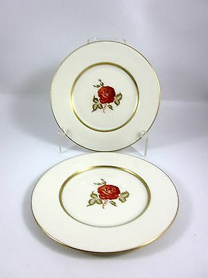 Two (2) Castleton China June - Salad Plates