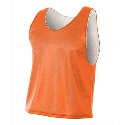 A4 N2274 Lacrosse Reversible Practice Jersey, Orange, White, Extra Large